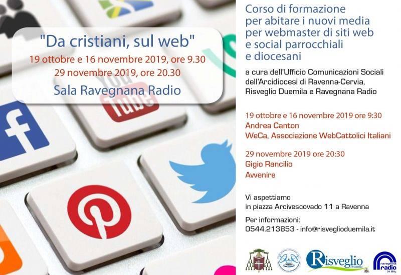 """""""Da cristiani, sul web"""". Corso di formazione nell'Arcidiocesi di Ravenna-Cervia"""