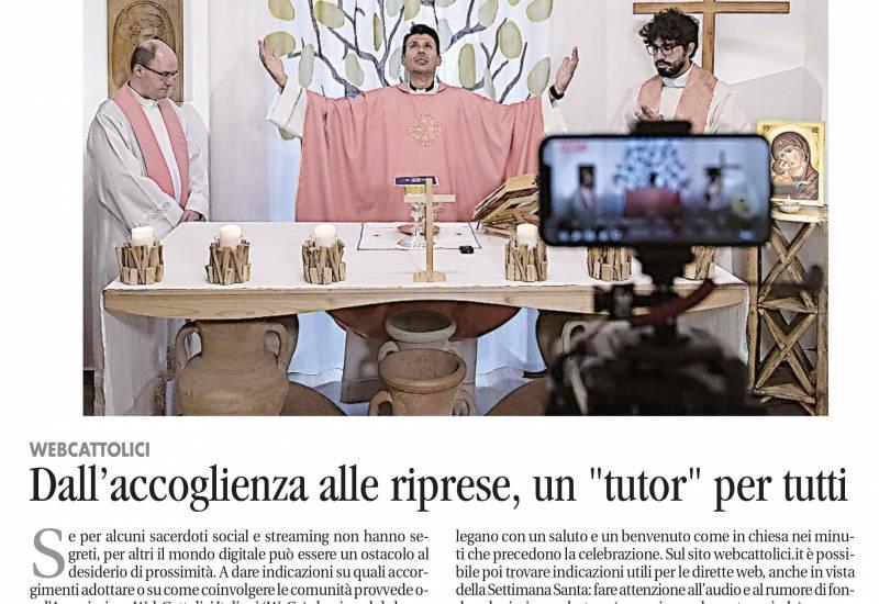 """Da Avvenire del 31 marzo 2020: """"Webcattolici – Dall'accoglienza alle riprese, un """"tutor"""" per tutti"""""""
