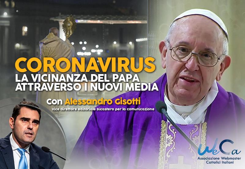 Coronavirus. La vicinanza del Papa attraverso i nuovi media, con Alessandro Gisotti